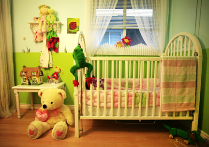 garden theme nursery crib baby room