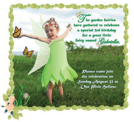 Tinkerbell birthday party pure ella tinkerbell custom made birthday party invitation filmwisefo