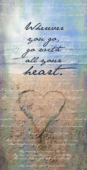 sea-side-love-note-go with all your heart canvas print