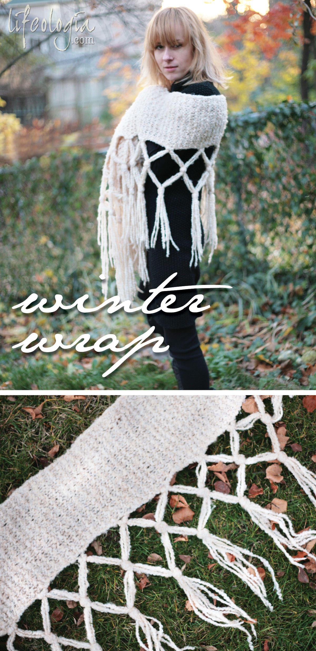 winter-wrap-scarf easy knitting