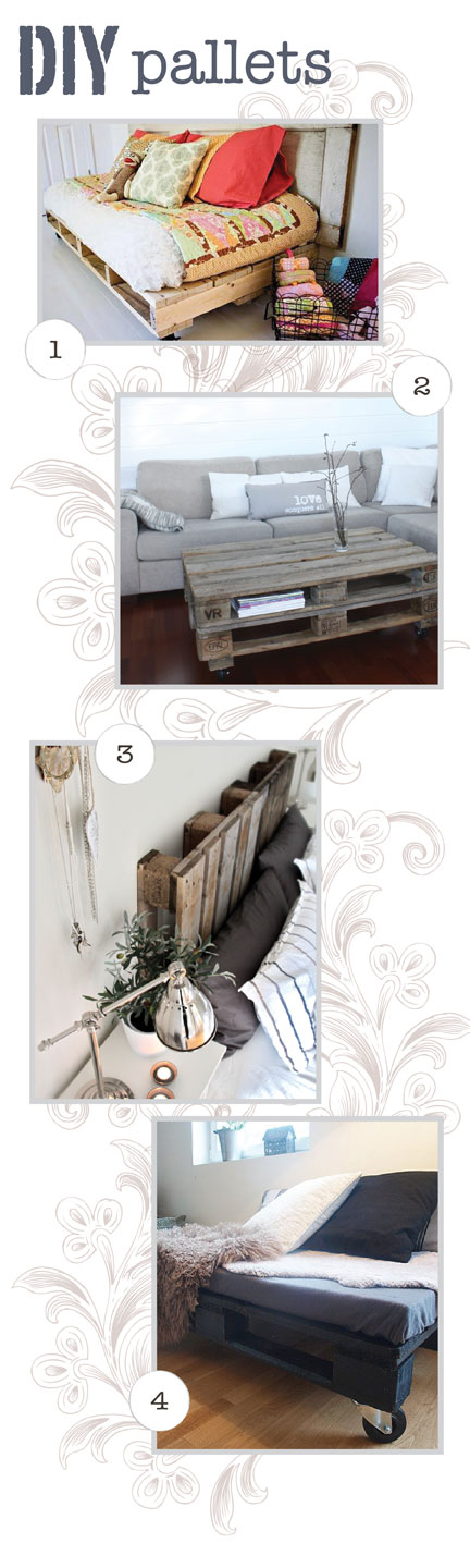 DIY upcycling : pallets get a new life