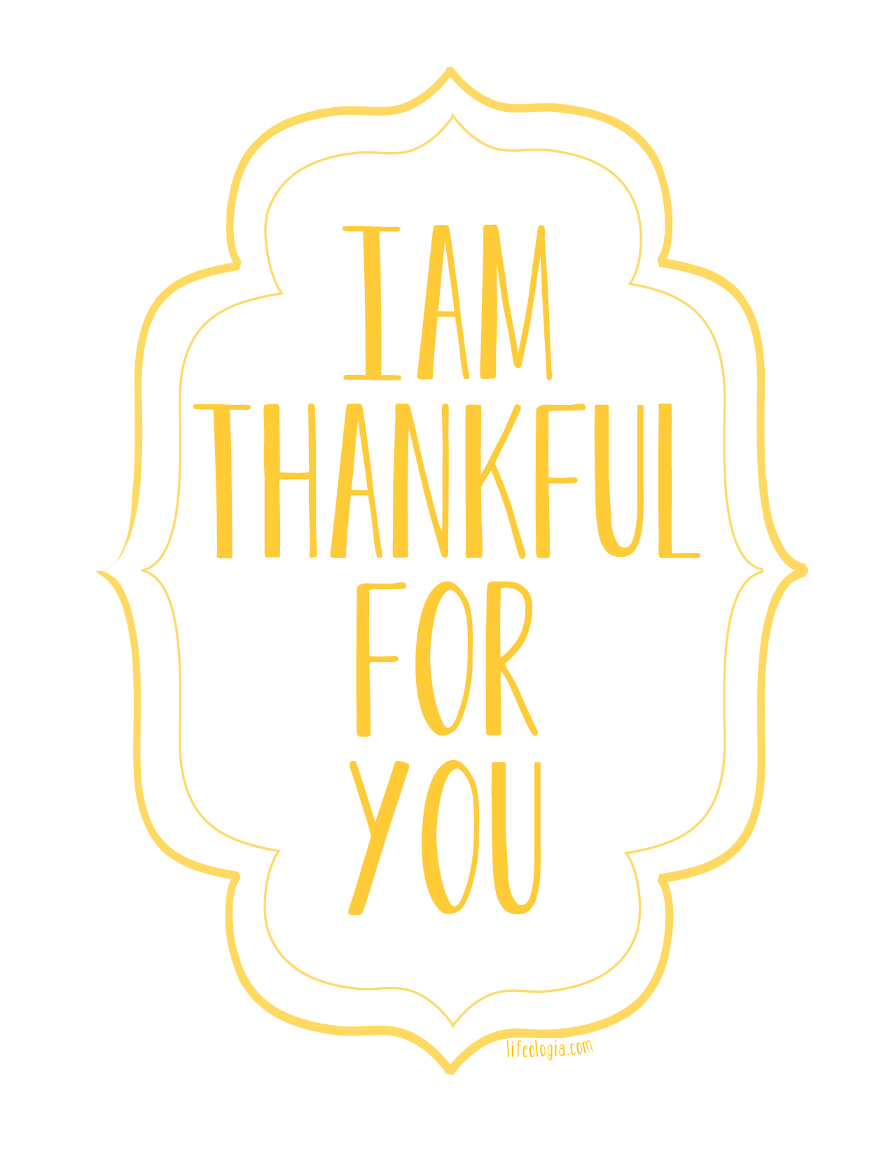 Unusual image in thankful printable