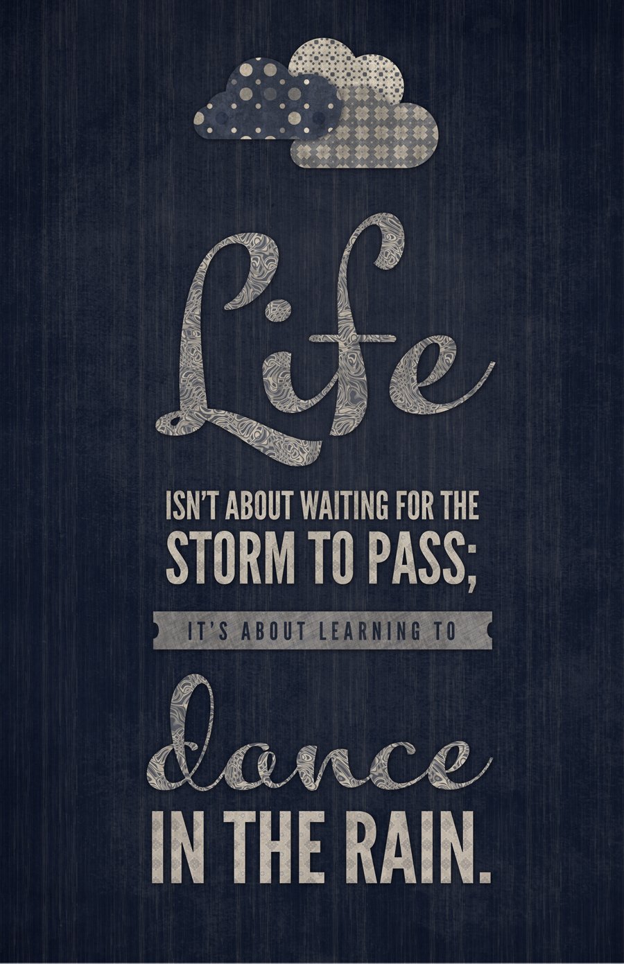 Life Dancing In The Rain Quote Happiness Iswaiting For The Storm To Pass  Pure Ella